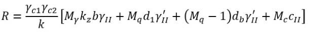Формула расчетного сопротивления основания