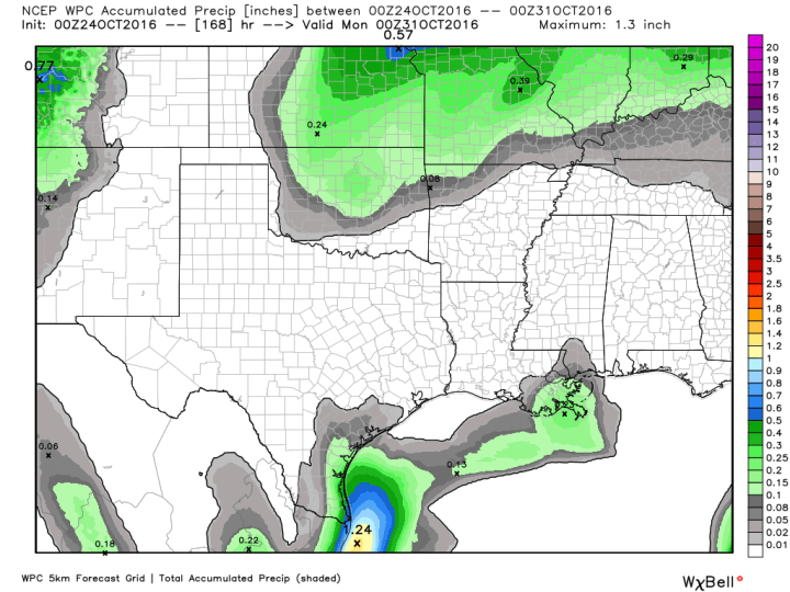 Here's your rain accumulation forecast for now through next weekend. (Weather Bell)