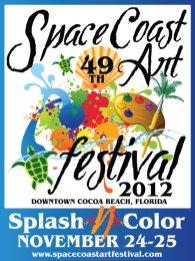 2012 Space Coast Art Festival Poster