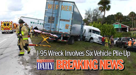 I95 Wreck Involves Six Vehicle PileUp