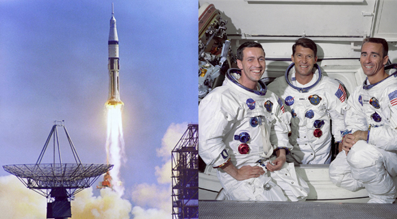 Today In NASA History First Manned Apollo Mission Apollo