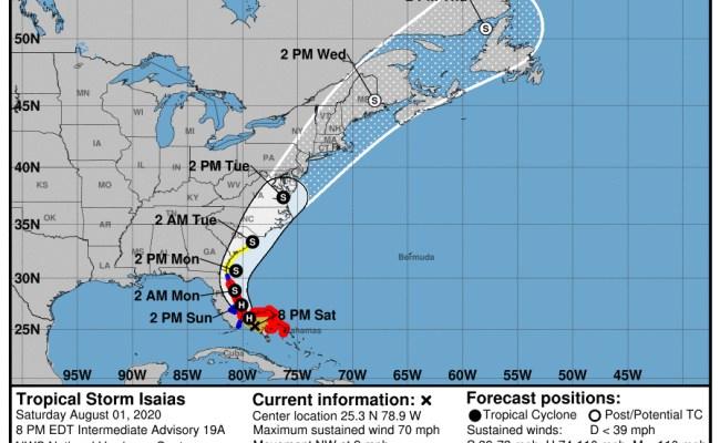Tropical Storm Isaias Moves Slowly Towards Florida