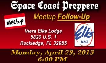 Space Coast Preppers April Meetup Folllow Up