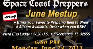 Space Coast Preppers.com June Meetup