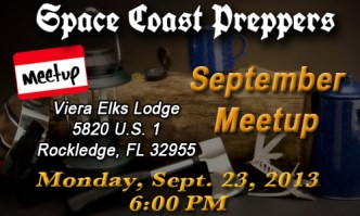Space Coast Preppers September Meetup