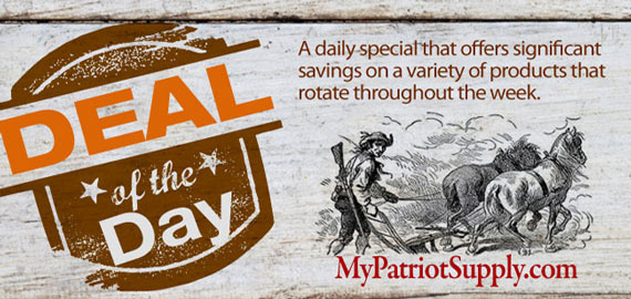 Deal of the Day from My Patriot Supply: $25 Gift Card for $20!