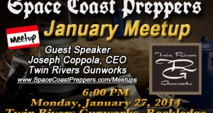 January 27th Meetup Announced- Twin Rivers Gunworks - Space Coast Preppers
