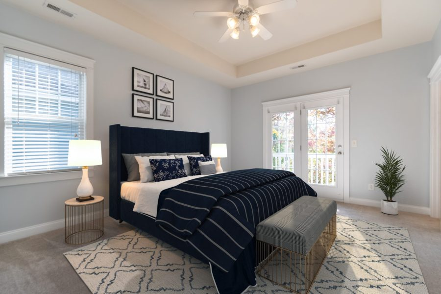 326 center dr master bedroom virtual staging