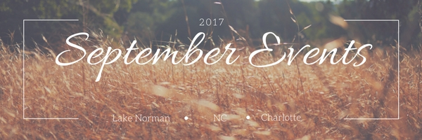 September 2017 EVENTS in Lake Norman