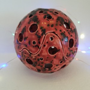 Fire Explosion Crystal Spheres with LED night light