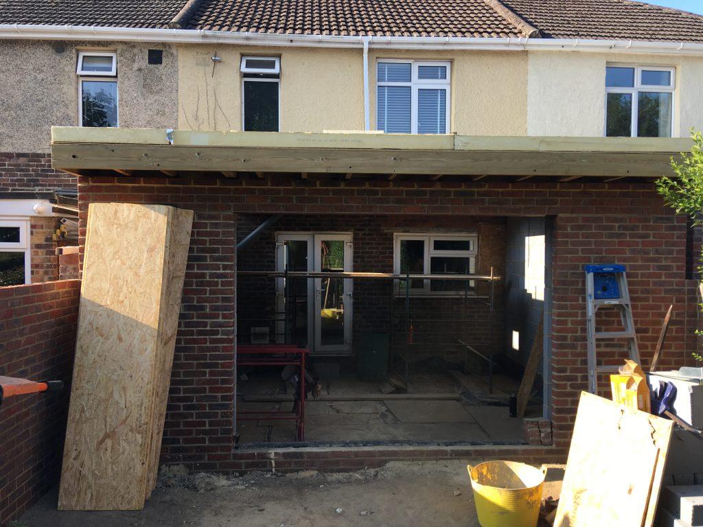 Extension brickwork