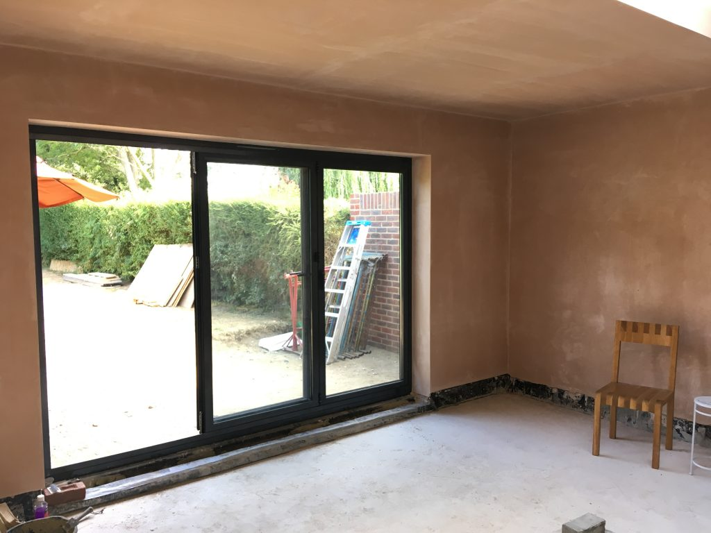 Extension plastering