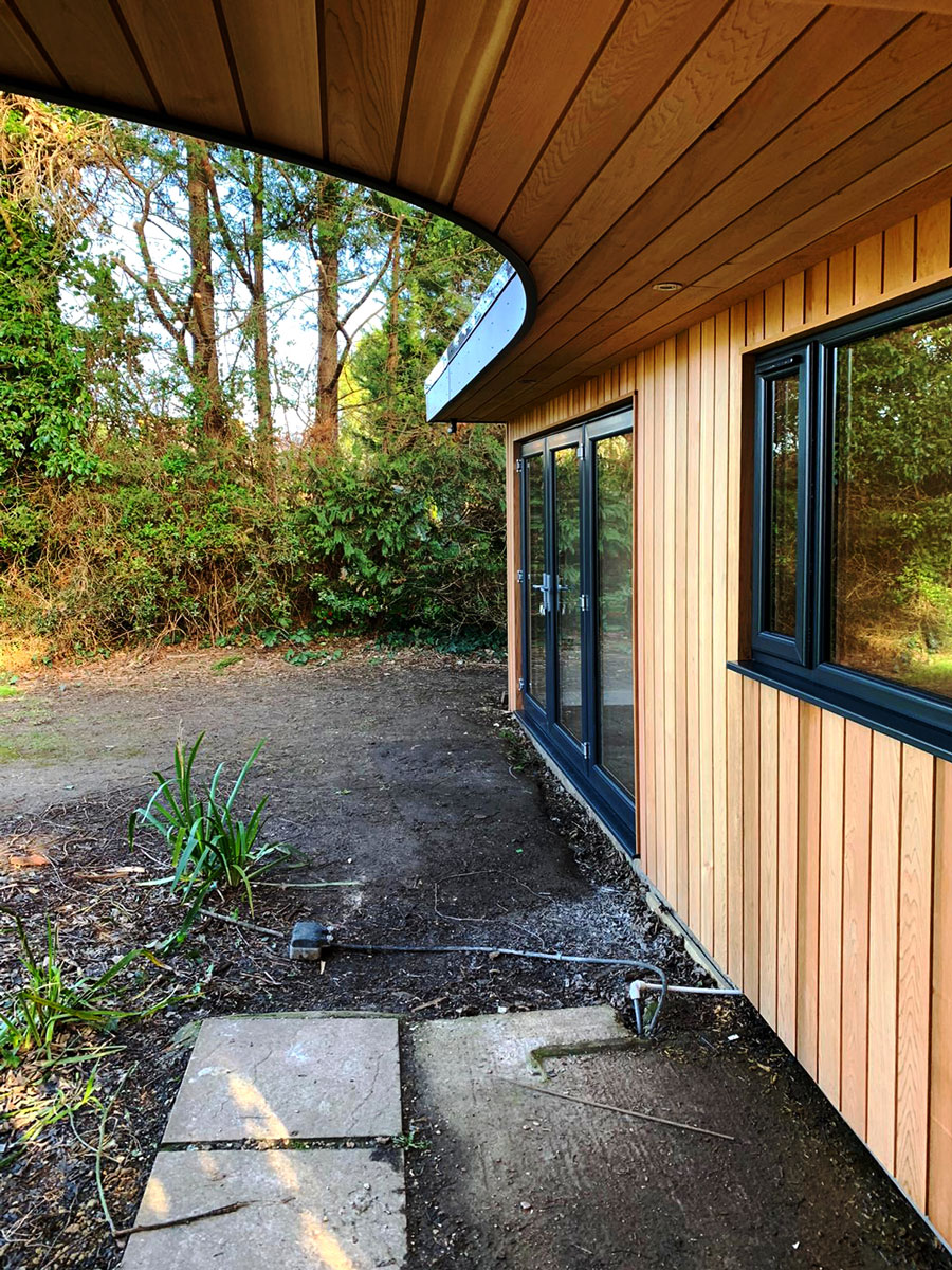 Garden Room Exterior Curved Roof