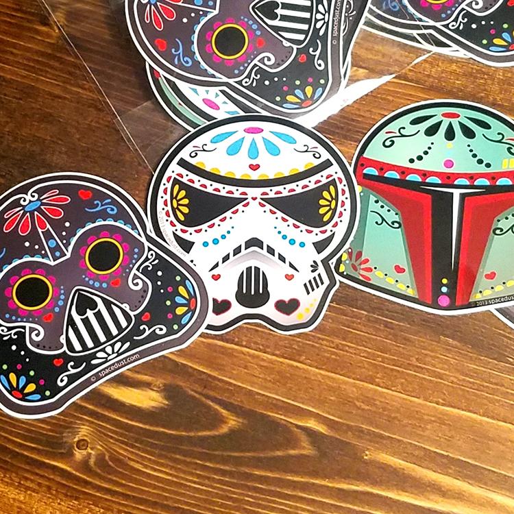 Sticker Pack: Star Wars Sugar Skull Day of the Dead Weatherproof Vinyl  Stickers