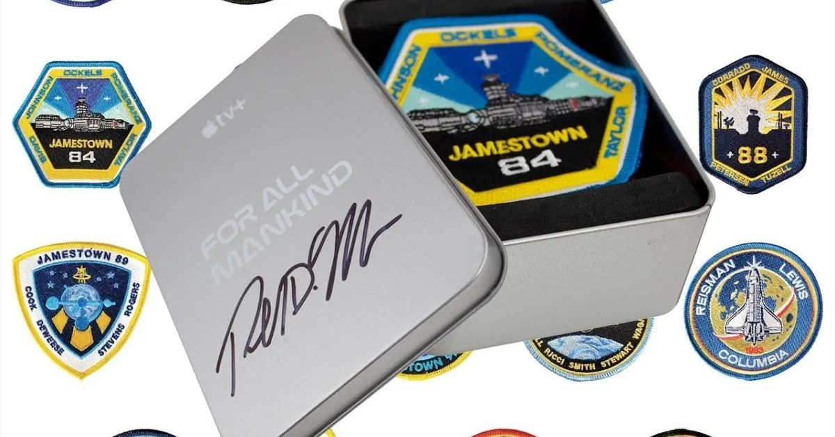 photo of Apple TV+ 'For All Mankind' mission patch set signed by Ronald Moore launch for second season image
