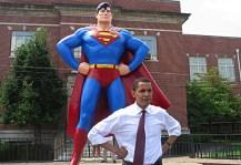 Superman Statue / La statue de Superman, Minneapolis, Illinois (2006)