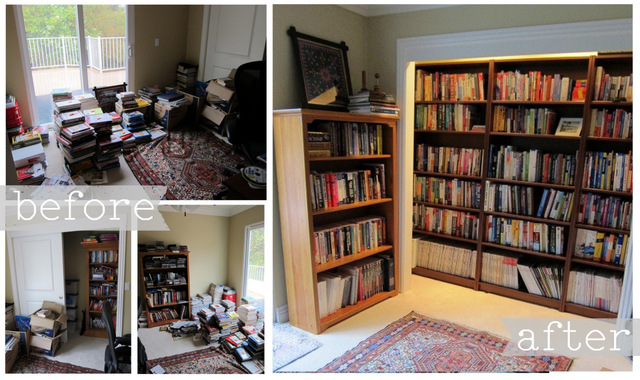 Before  After of Organized Spaces  Space for Living
