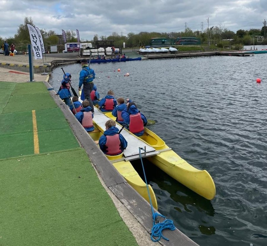 children and young people taking part in paddlesports