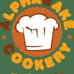 Alphabake cookery logo - a baker's hat