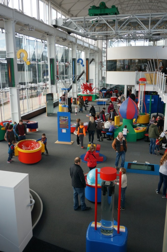 Techniquest is a light, airy and colourful hands on Science Centre in Cardiff Bay, Wales. Can't recommend it enough!