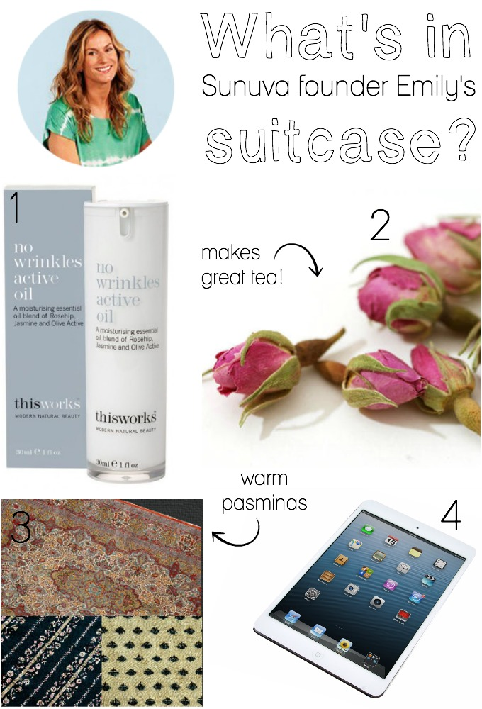 What's in Sunuva founder Emily's suitcase?