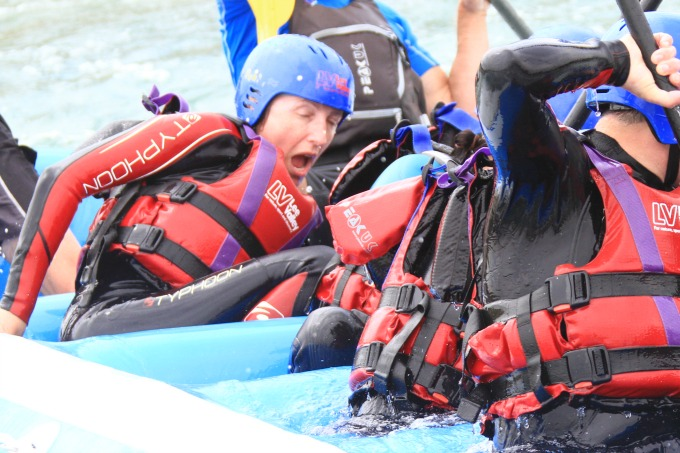 Believe you can do it, and you can - white water rafting at the Lee Valley Olympic Park