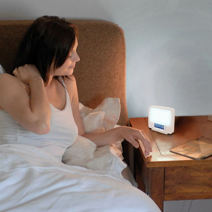 Combat jet lag with a natural light alarm clock