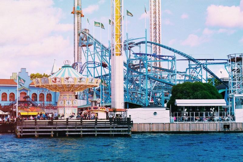 Grona Lund theme park Stockholm with children