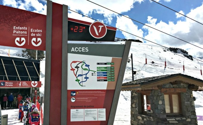 Val Thorens piste guide for families - Cascades lift is great for beginners
