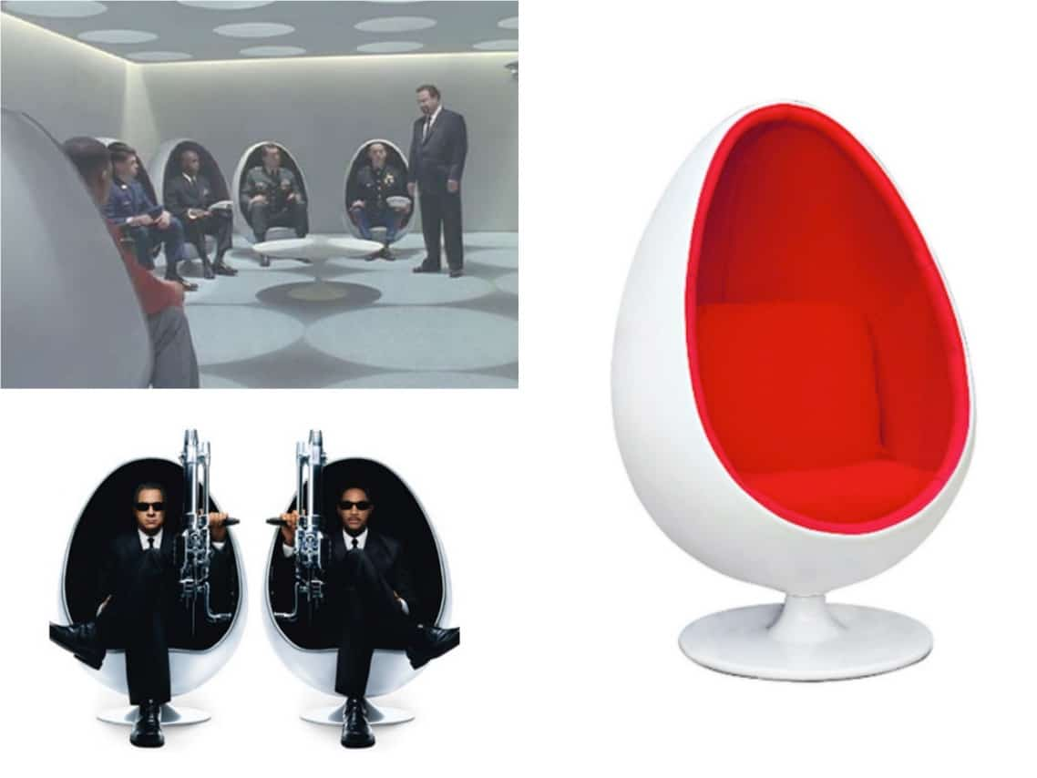 Men In Black Egg Chair 10 Iconic Designer Furniture Making An On Screen