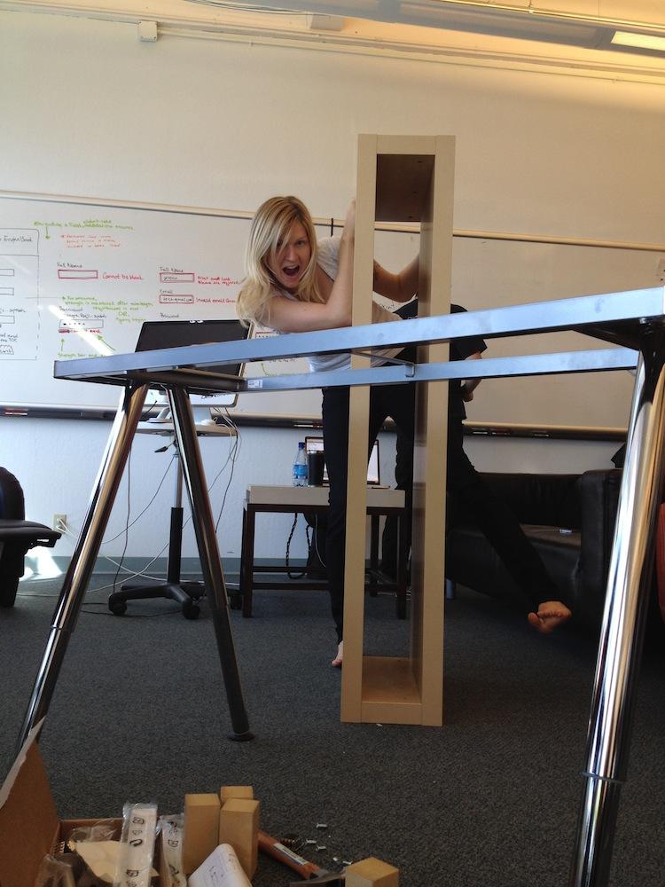 Simple adjustable standing desk  jessicas blog