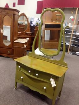 The color on this vanity is a great add by Dittover!