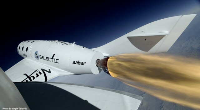 SpaceShipTwo powered test flight