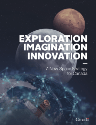 Canada's long-awaited national strategy for space was released March. 6. Credit: Screenshot