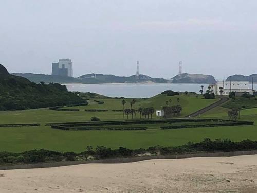 竹崎展望台から見た打ち上げ場