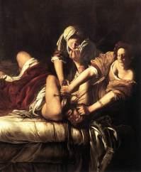 Giuditta taglia gentilmente la testa a Oloferne, tela del 1620 su episodio del VI s. a.C.