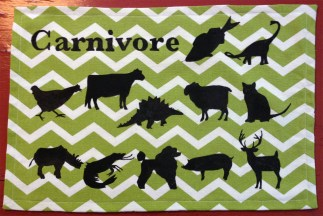 Completed carnivore foods placemat