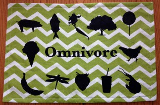Completed omnivore foods placemat