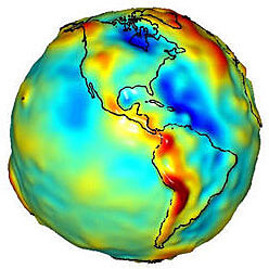 A gravity map of Earth made with data from the GRACE mission