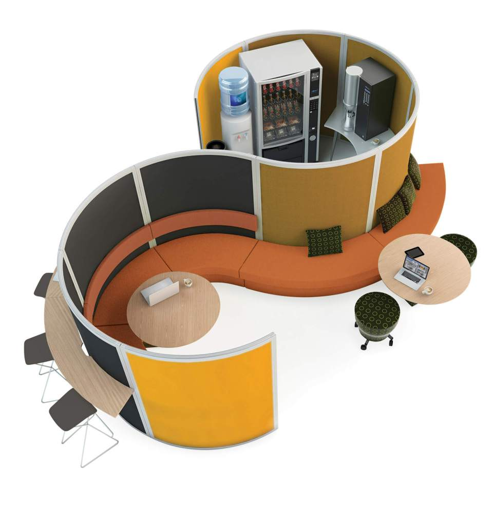 Office Pods And Collaborative Work Spaces