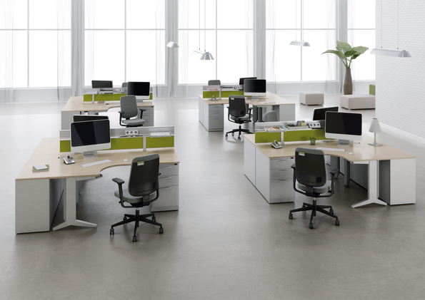 Picture Of Steelcase Fusion Office Desk Systems