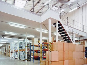 Mezzanine Floor level in warehouse