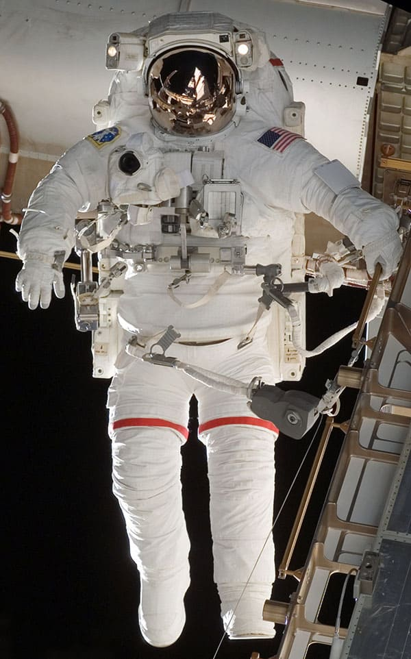 STS-118 EVA EMU space suit