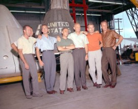 Mercury Capsule and Astronauts