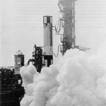 Sequence Compatibility Firing of the two stages of Gemini launch vehicle 1 at pad 19, Jan. 21,1964