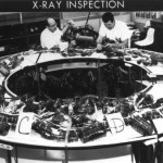 Apollo 1 Command Module wiring harness goes through X-Ray inspection