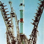Soyuz 3 on the launch pad