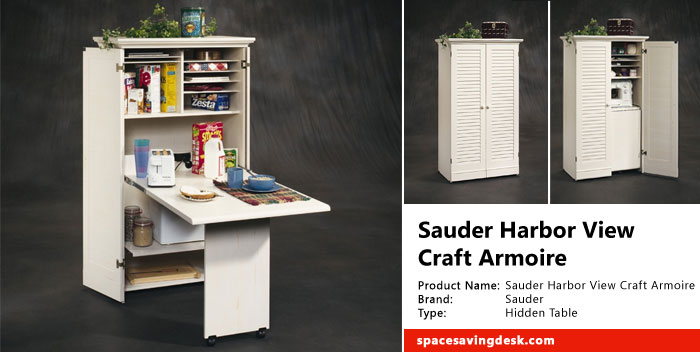 Sauder Harbor View Craft Armoire Review Space Saving Desk
