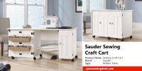 Sauder Sewing Craft Cart Review   Space Saving Desk