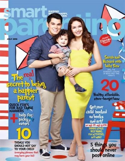 Baby-Zion-Richard-Gutierrez-and-Sarah-Lahbati-Covers-Smart-Parenting-Magazine-July-2014-Issue